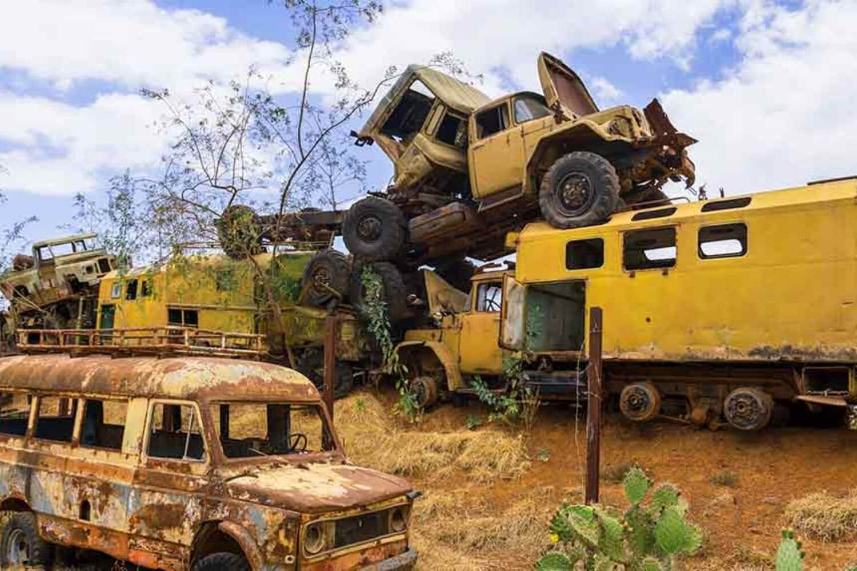 11The tank graveyard of Asmara