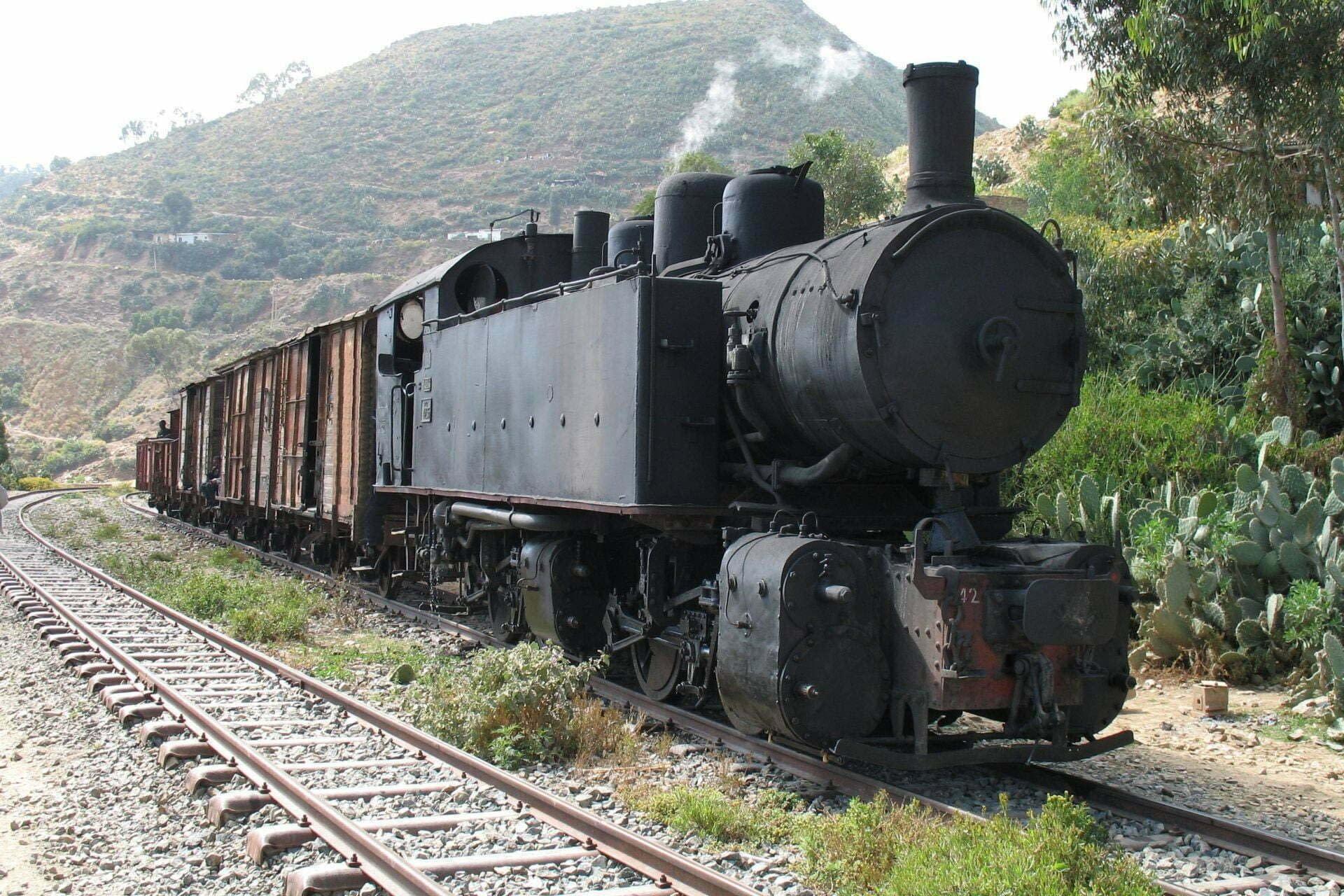 11steam locomotive in Eritrea - Archeological tour to Eritrea - The Eritrean Railway