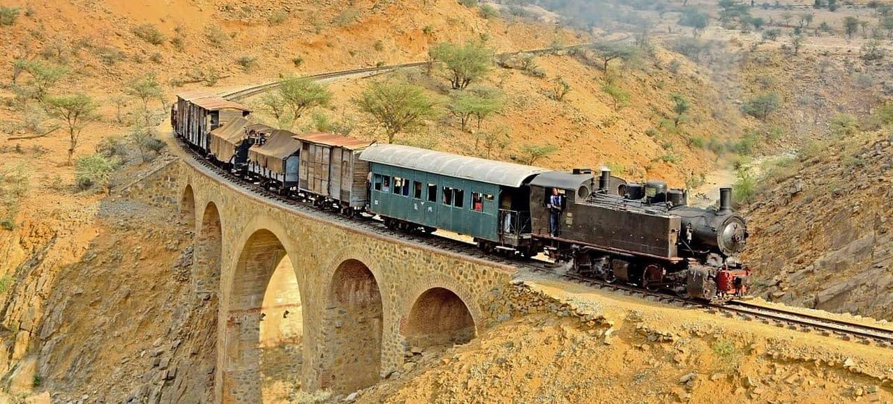 Eritrea Steam locomotive trains - The Eritrean Railway - Eritrea 4 Days Tour - Explore Eritrea