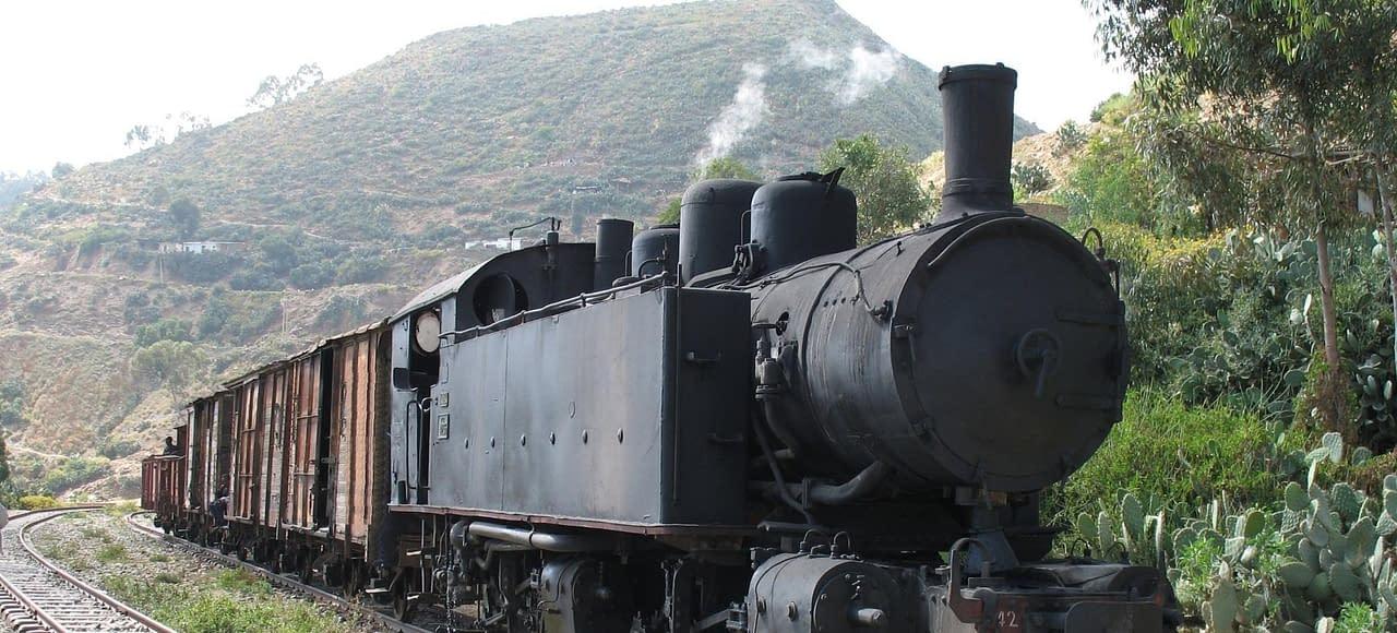 steam locomotive in Eritrea - Archeological tour to Eritrea. The Eritrean Railway