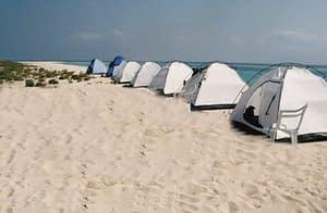 Tents on the islands Dahlak
